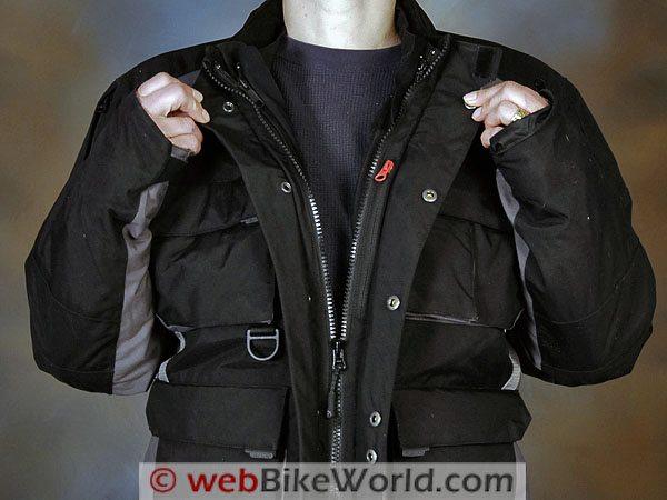 Firstgear TPG Rainier Jacket - Front Zipper and Collar