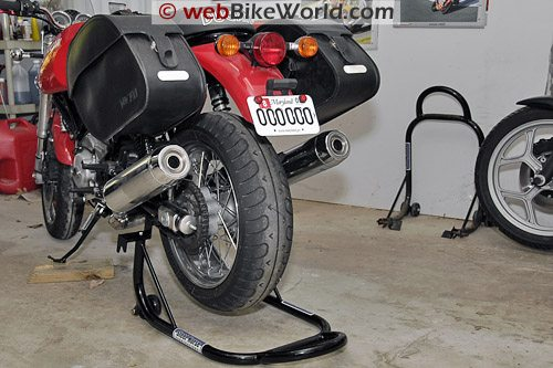 Ducati GT1000 on Rear Stand