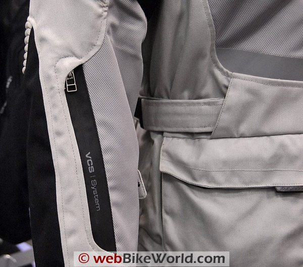 REV'IT! Sirocco Jacket - Sleeve and Zipper Close-up