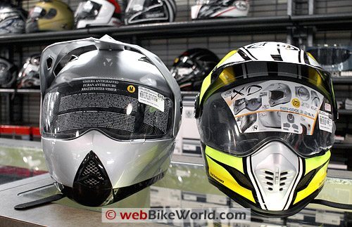 Zeus ZS-2100 B Helmet Compared to Arai XD3