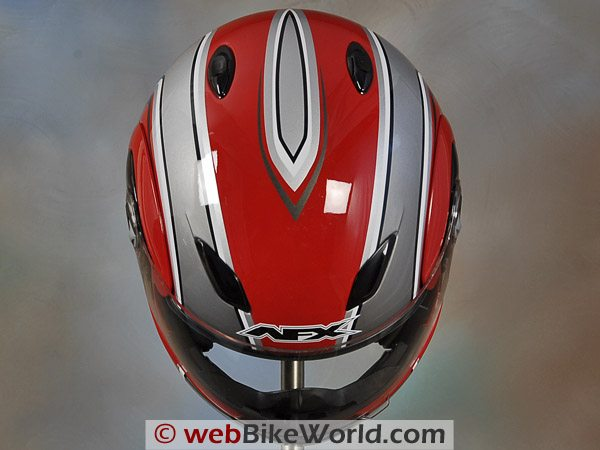 AFX FX-28 Motorcycle Helmet - Top View