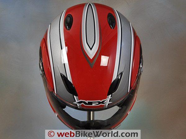 AFX FX-28 Motorcycle Helmet - Top View