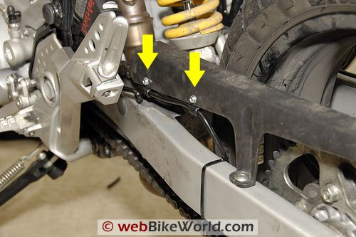 Cameleon Motorcycle Chain Oiler - Second Installation