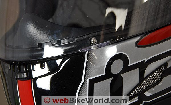 Icon Airframe - Visor Lock and Chin Vent
