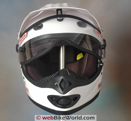 Simpson GS3 MX Helmet - Visor at full lift