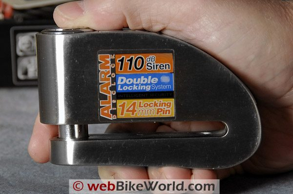 Xena Motorcycle Disc Lock - Side View