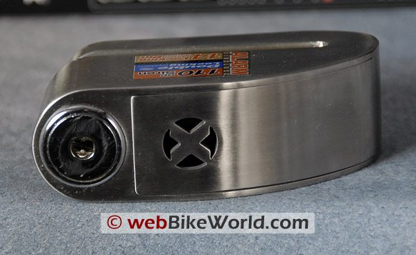 Xena Motorcycle Disc Lock - Top View