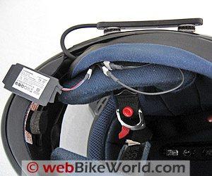 AKE PowerCom Bluetooth Module - Helmet Underside