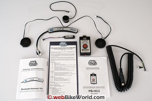 AKE PowerCom Motorcycle Bluetooth Intercom Set 101