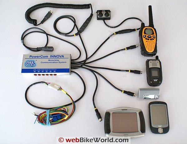 AKE PowerCom INNOVA Motorcycle Communications and Intercom System and Peripherals