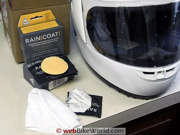Raincoat Visor Water Repellent on Right Side of Visor