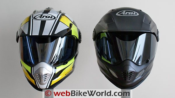 Arai XD (left) vs. Arai XD3