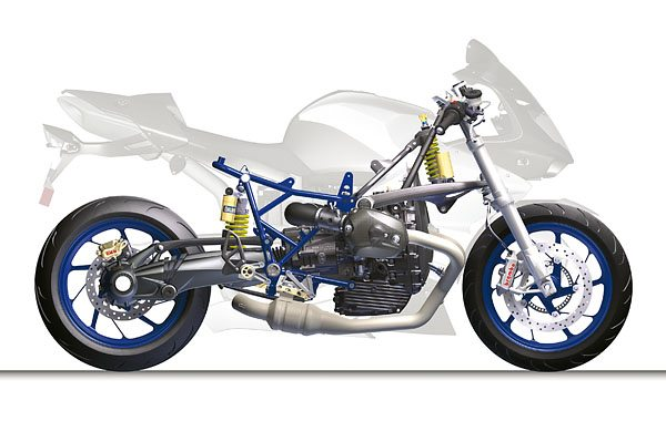 BMW HP2 Sport - Chassis and Frame