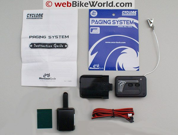 Cyclone 866F Motorcycle Alarm Paging System