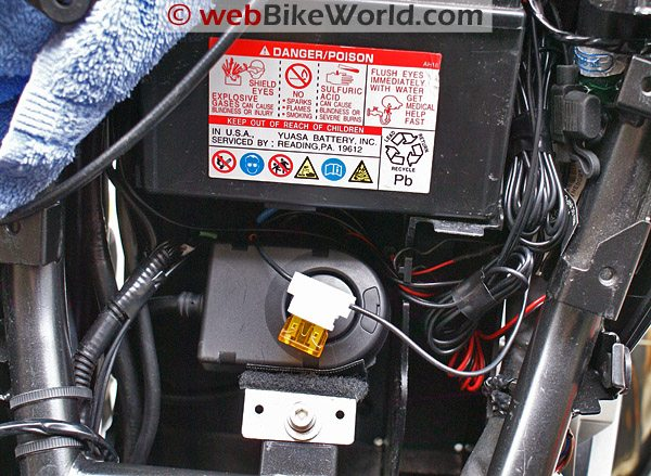 Cyclone 866F Motorcycle Alarm Final Installation