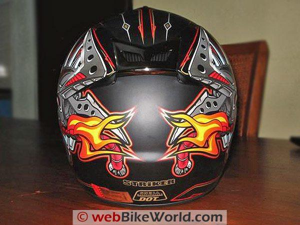 Rjays Striker Helmet - Rear View