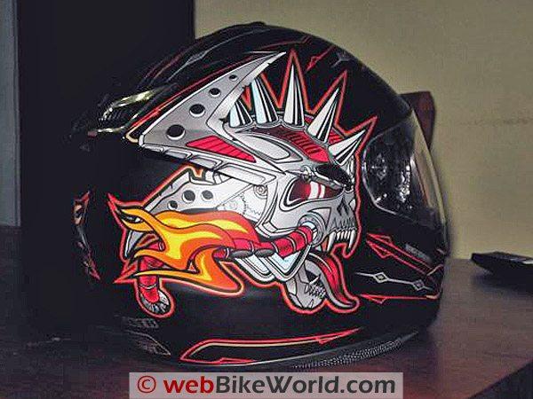 Rjays Striker Helmet - Rear Side View