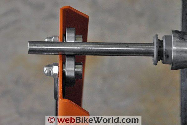 Tachyon Motorcycle Wheel and Tire Balancer - Arbor bearings