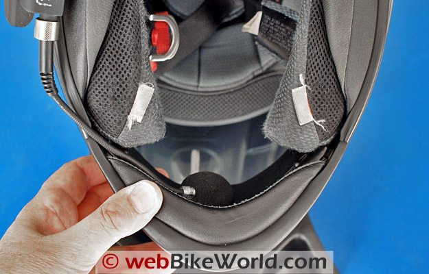 Mounting the BikerCom Intercom in a Helmet - Microphone