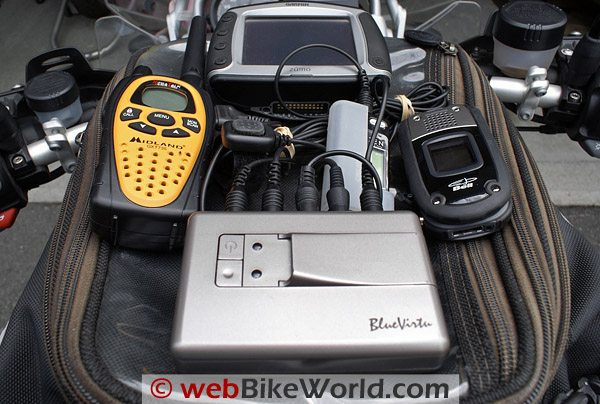 Blu Virtu BAT-01 and BSH-01 Motorcycle Intercom, Tank Bag and Peripherals