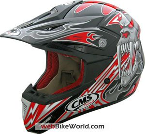 "CMS also released new ""Mutant"" graphics for their XR-7 men's motocross helmet."