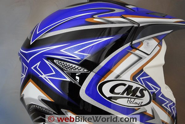 CMS XR-7 Motocross Helmet - Rear