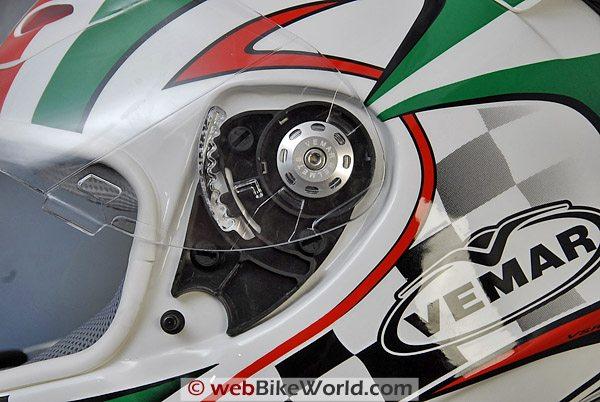 Vemar VSREV Helmet - Visor Removal System
