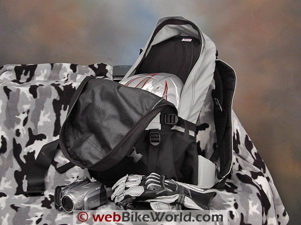 Large Motorcycle Backpack - With Helmet