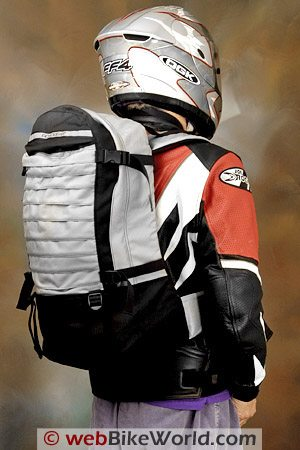Roadgear Commuter Max Large Motorcycle Backpack - Rear