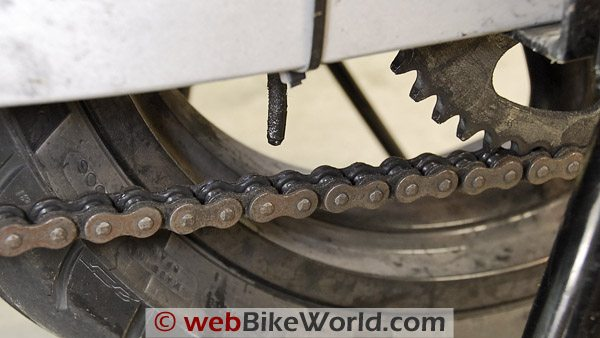 Dirty Motorcycle Chain
