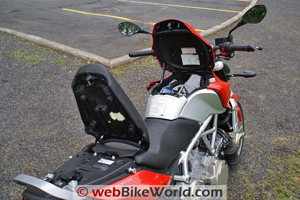 Aprilia Mana 850 - Storage Compartments