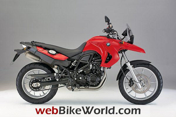 2009 BMW F 650 GS in Flame Red