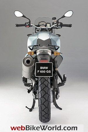 2009 BMW F 650 GS - Rear View