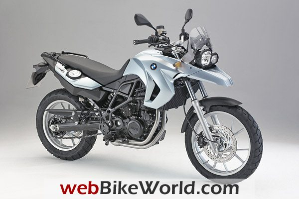 2009 BMW F 650 GS in the classic BMW Color, Iceberg Silver Metallic