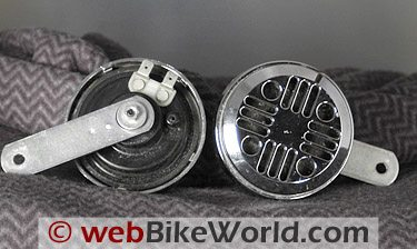 Motorcycle Horn Comparison Review - webBikeWorld on