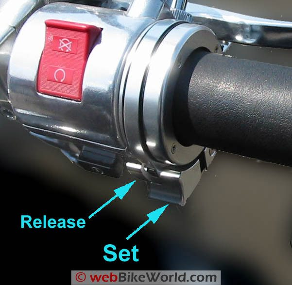 BrakeAway Motorcycle Cruise Control Close-up