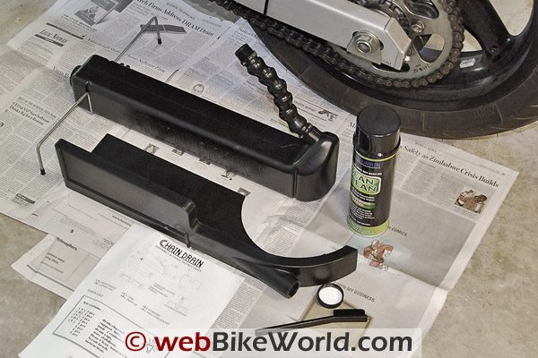 Chain Drain Motorcycle Chain Cleaner and Chain Cleaning System
