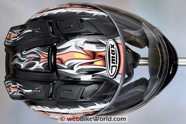 GMAX GM68S Motorcycle Helmet - Top View