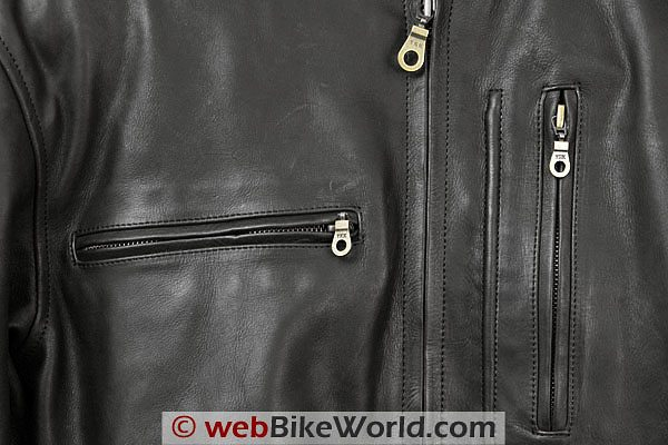 British Motorcycle Gear BMG Montana Jacket - Zipper Close-up