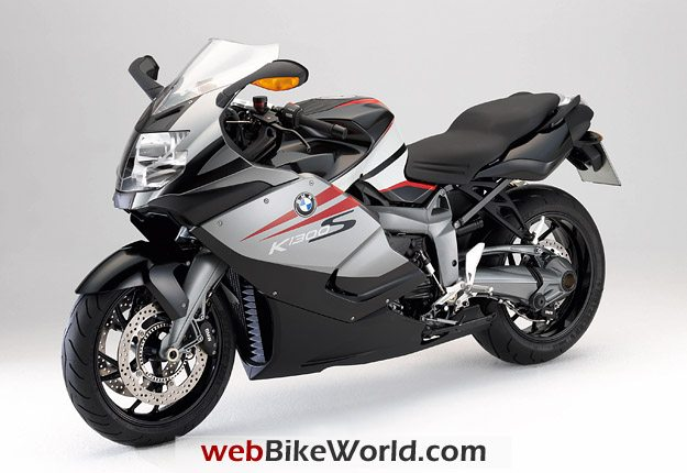 BMW K 1300 S in Granite Grey Metallic/Light Grey Metallic with Magma Red highlights.