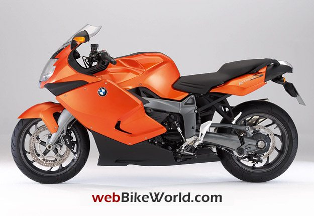 BMW K 1300 S in Lava Orange Metallic.