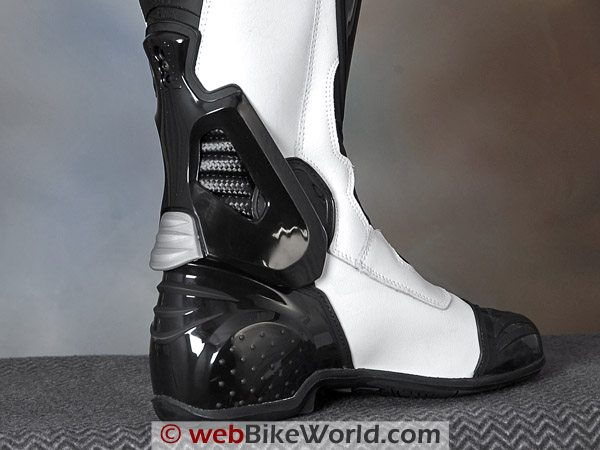 Falco 305 ESO TT Motorcycle Boots - Rear View, ESO-skeleton