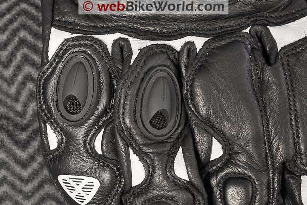 Ixon RS King Motorcycle Gloves - Back of Fingers Close-up