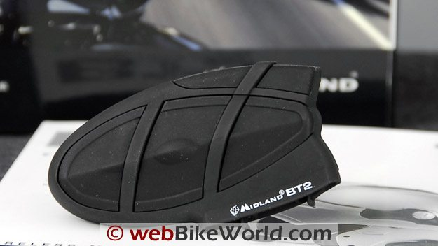 Midland BT2 Bluetooth Motorcycle Intercom - Close-up of Device