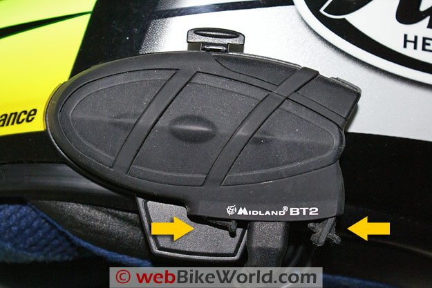 Midland BT2 Bluetooth Motorcycle Intercom - Waterproof Plugs
