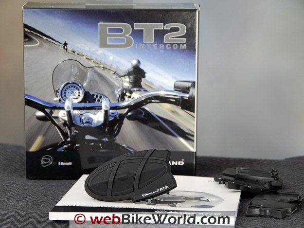 Midland BT2 Bluetooth Motorcycle Intercom - Packaging