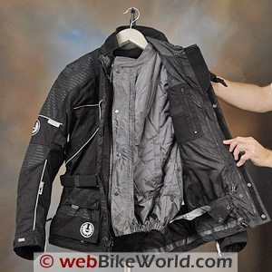 British Motorcycle Gear BMG Discovery Jacket - Internal Drop Liner