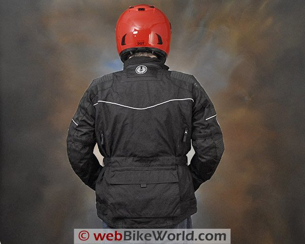 British Motorcycle Gear BMG Discovery Jacket - Rear View