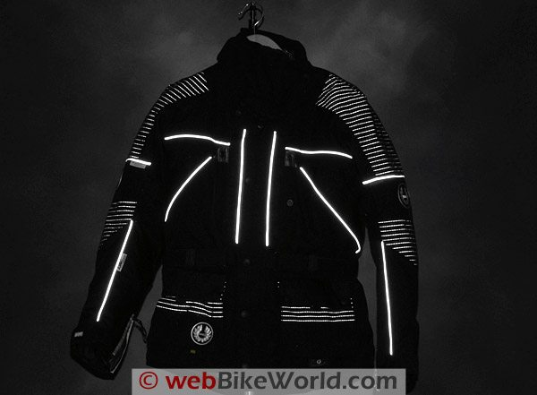 British Motorcycle Gear BMG Discovery Jacket - Reflective Material and Piping