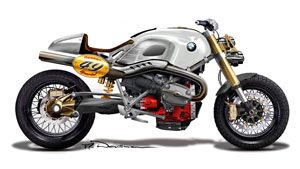 BMW Lo Rider - Silver Concept With Seat Back